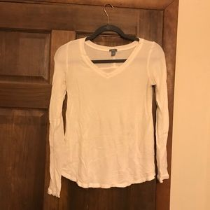 Cream AERIE long sleeve shirt